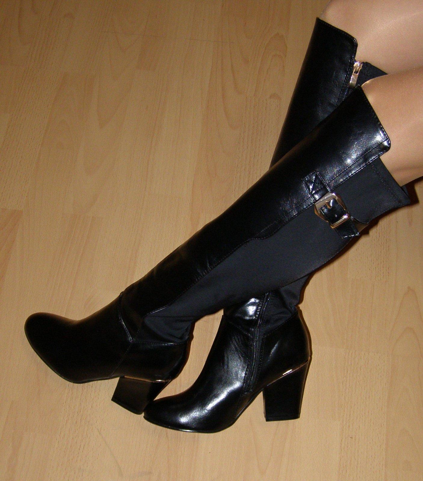3f2e6da3b9 Čierne čižmy nad kolená č.37