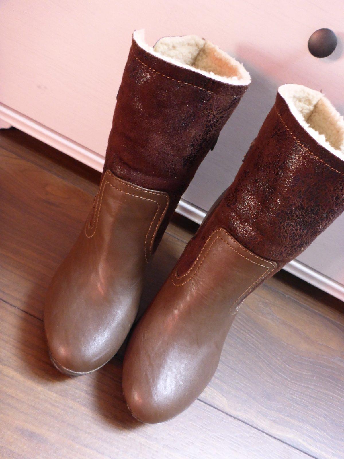 51351885bea09 Hnedé zimné čižmy na opätku humanic, humanic,40 - 35,95 € od predávajúcej  missdiva | Detský bazár | ModryKonik.sk