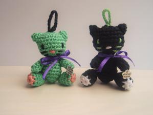 Kľúčenky mačičky No. 1 a No. 2