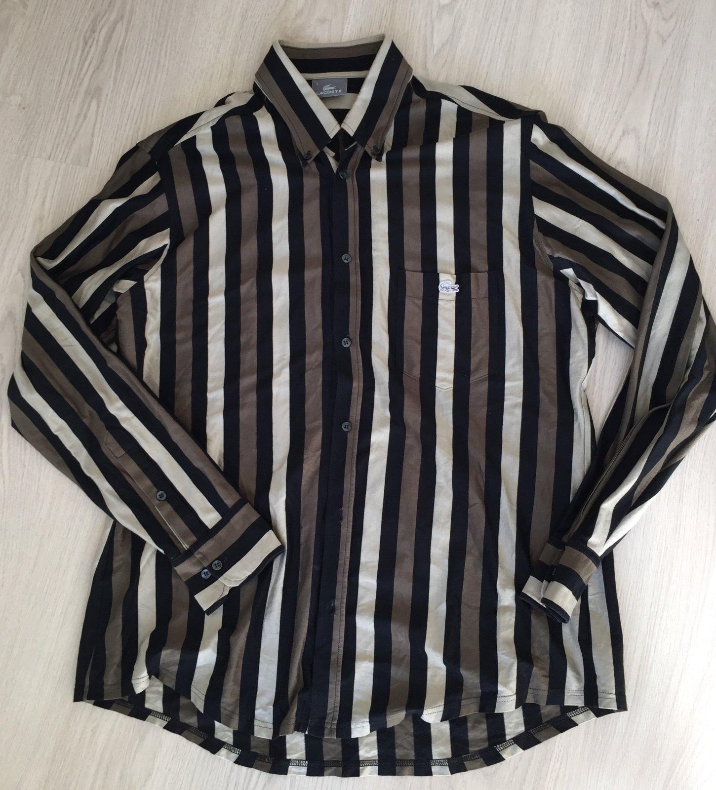 b58ea671f87c9 Lacoste pánska košeľa veľ. l, lacoste,l - 15 € od predávajúcej colleen7410  | Detský bazár | ModryKonik.sk