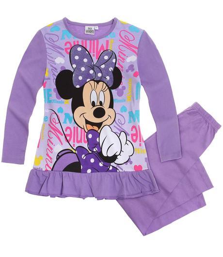 Dlhé dievčenské pyžamo disney minnie fialové 5699545896b