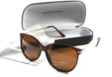 Dámske slnečné okuliare dko brown/gold + puzdro,