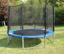 Trampolína 305 cm modrá, rebrík+ sieťka,