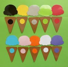 Farebná alebo číselná zmrzlinová priraďovačka,