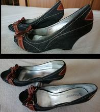 Denimové topánky na platforme, 40