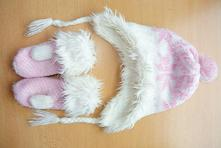 Čiapka+rukavice, h&m,56