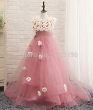 Šaty s ružičkami s vlečkou - rôzne farebné prevede, 98 - 164