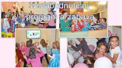 Pre deti pripravíme tématický program v štýle oslavy. Deti sú vždy radostné a zaujaté plnením dôležitých úloh a hier!