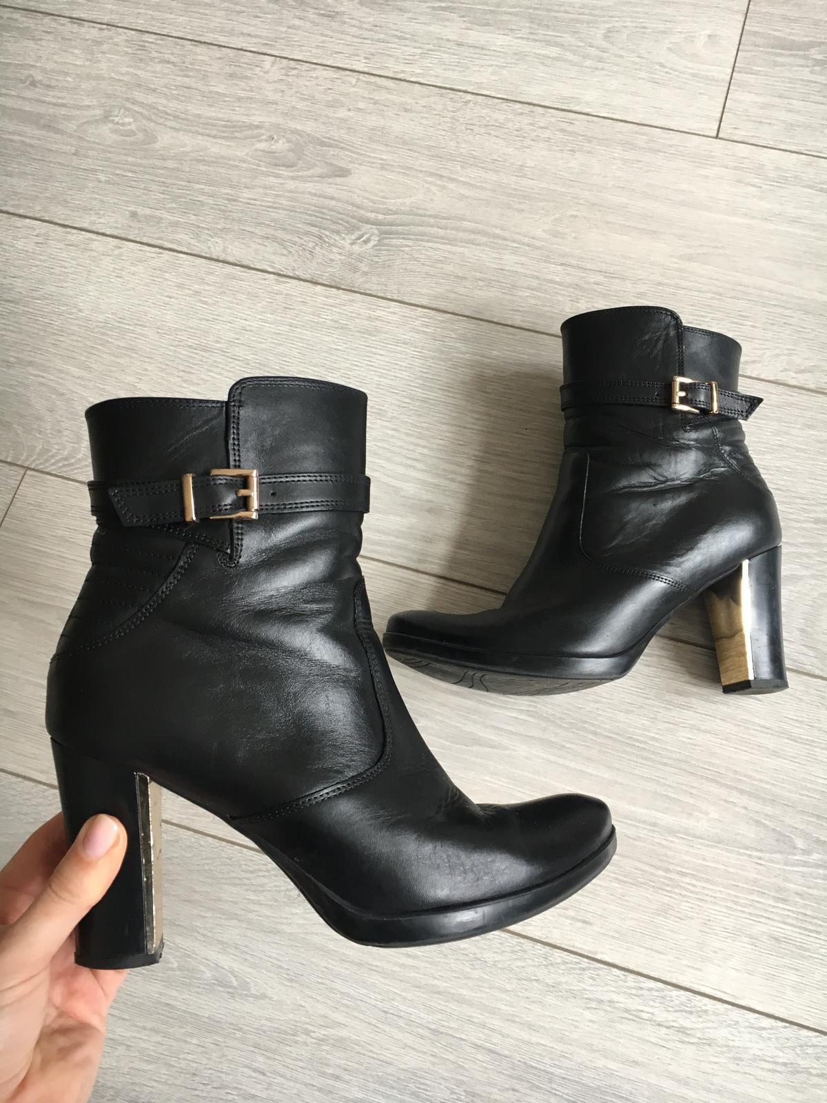 Čierne koženné topánky ccc 7e7d933d066