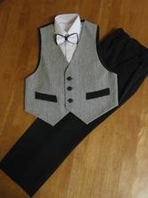 Chlapčenský elegantný oblek veľ. 158 - sivá      , 158
