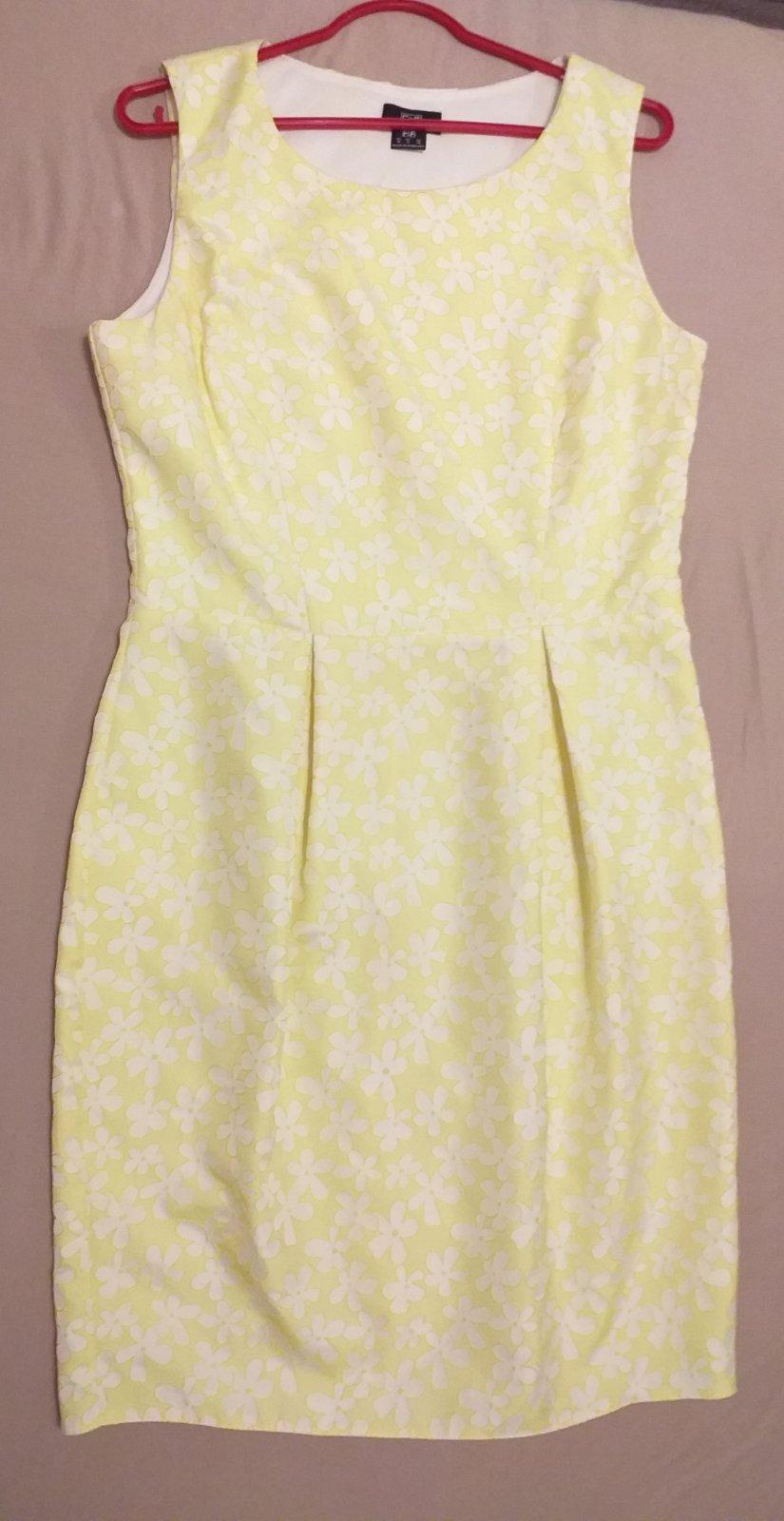 69a00df9244b Žlté kvetinové šaty