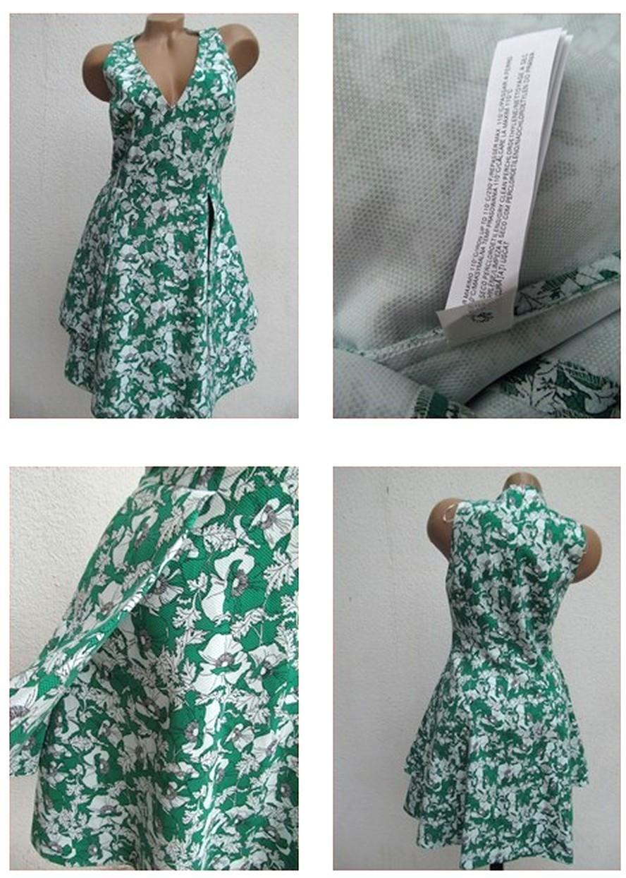 48d9b8dcec Zara nové štrukturované vzorované šaty m-l