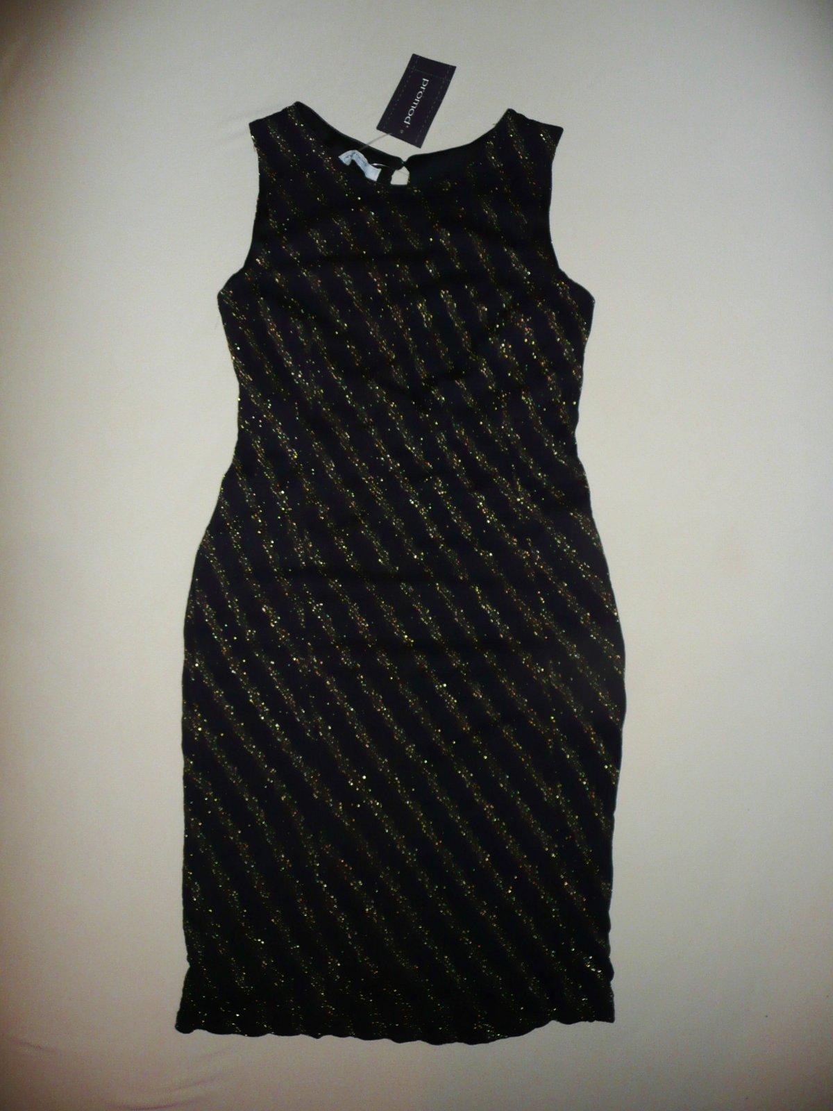 8c28af0bfdf8 Čierno-zlaté šaty