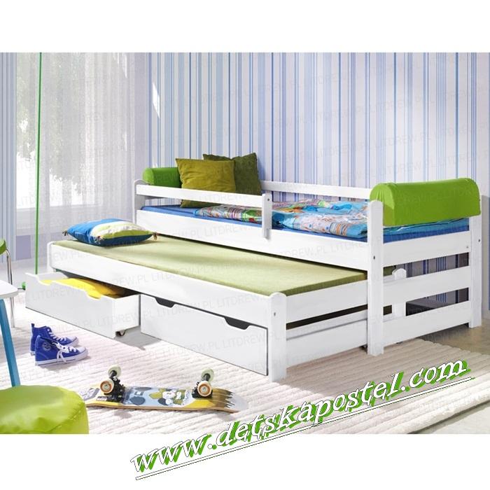 12c083929be5 Ltd doblo 200x90 biela posteľ s prístelkou