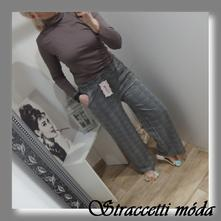 c9209c49eb9f Dámske kárované široké nohavice