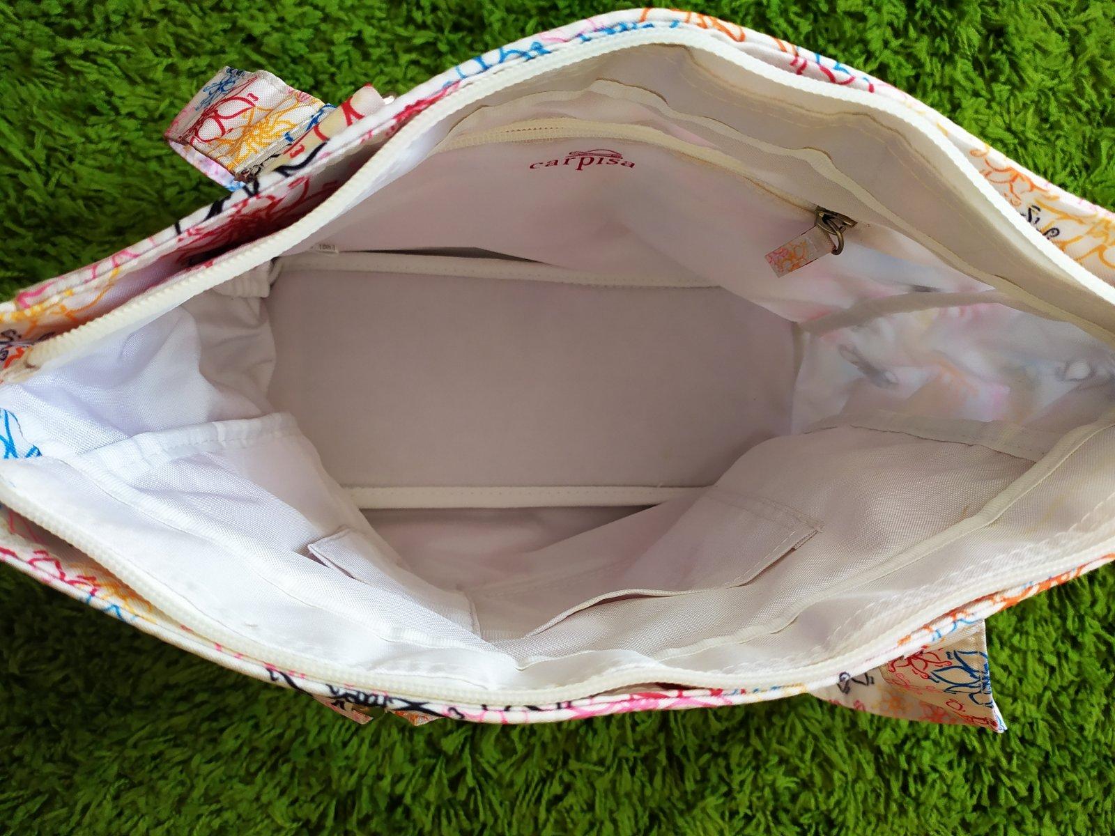 Kvetovaná biela taška zn. carpisa, - 7 € od predávajúcej