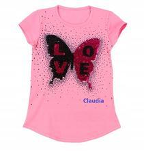 Leto/2019 tričko motýľ, 128 - 164