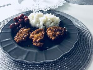 Nugetky, ryža, čerešňový kompót 🍽