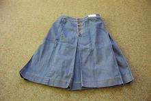 Riflová sukňa a-strihu - nenosená, 34