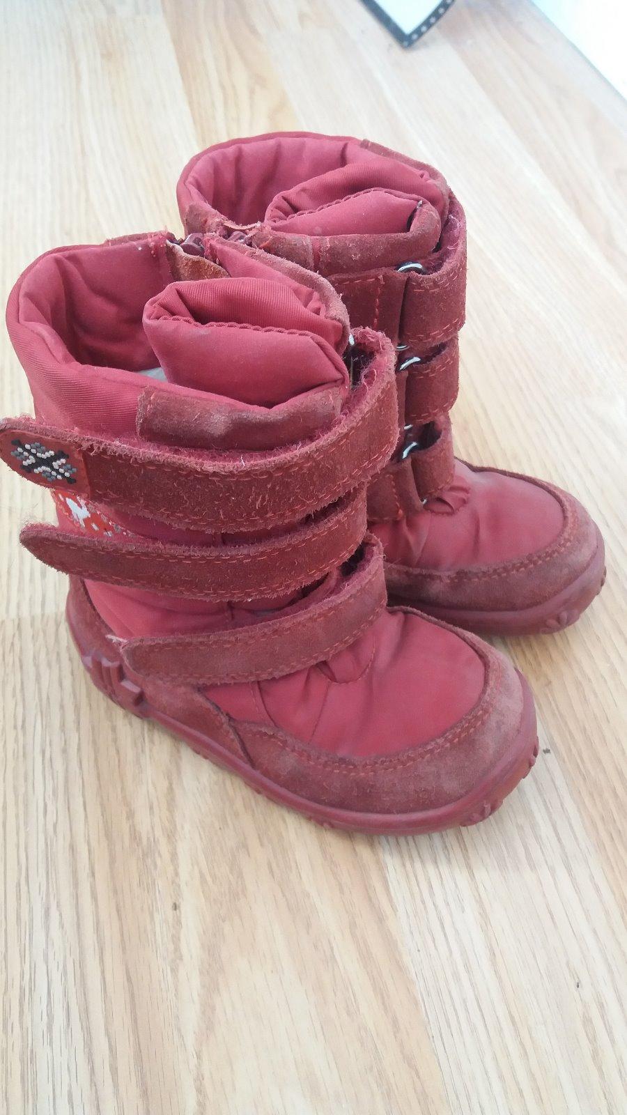 659adccc7d Červené zimné topánky