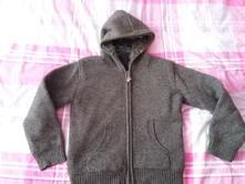 Hrubý sveter zateplený fleecom, cherokee,140