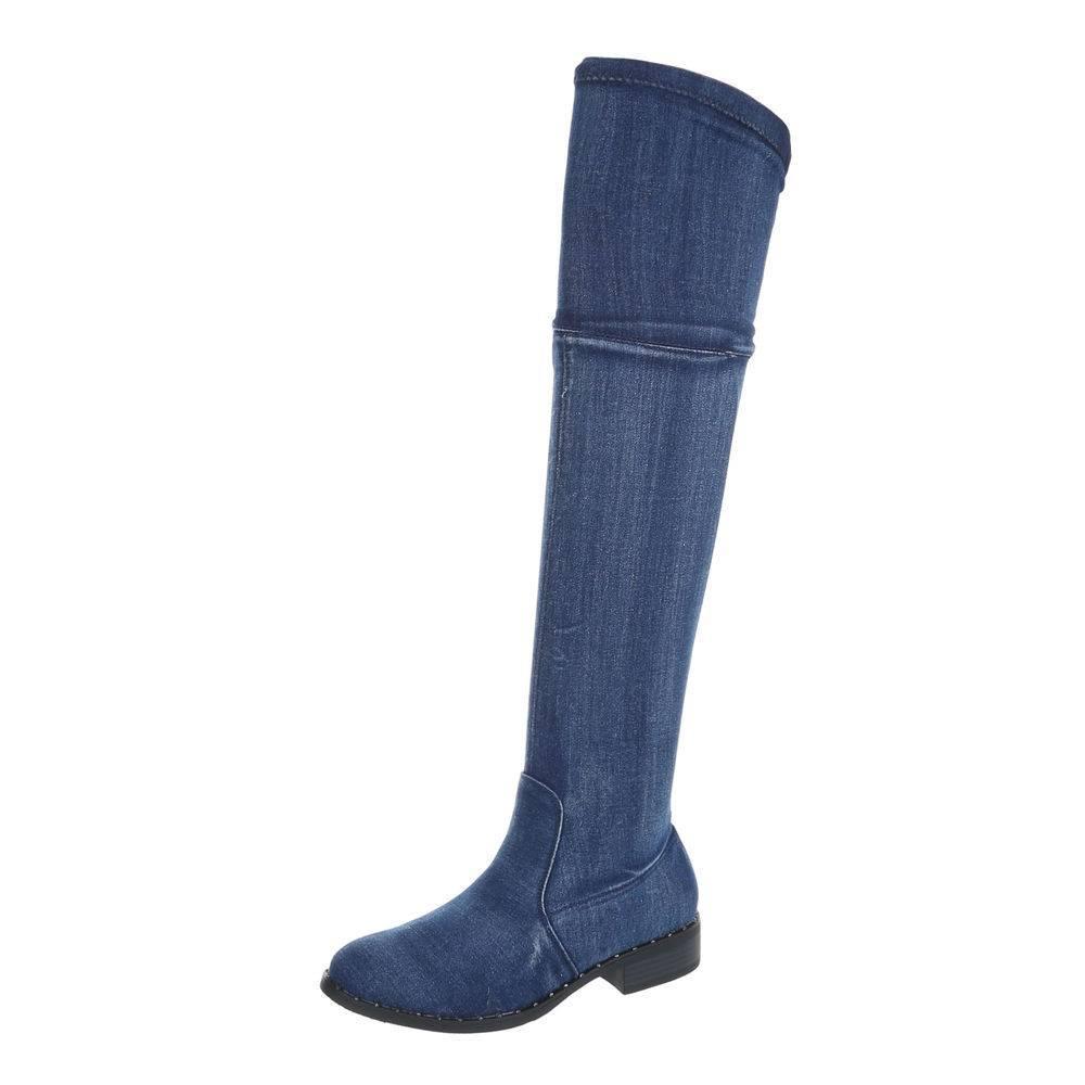 Riflové čižmy nad kolená jeans ii c1e305aecab
