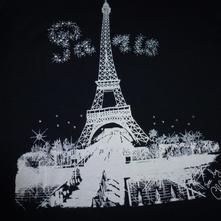 Tricko so swarovskeho kamenmi- pariž, dkny,s