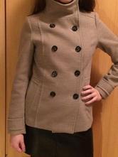Béžový kabát, h&m,36