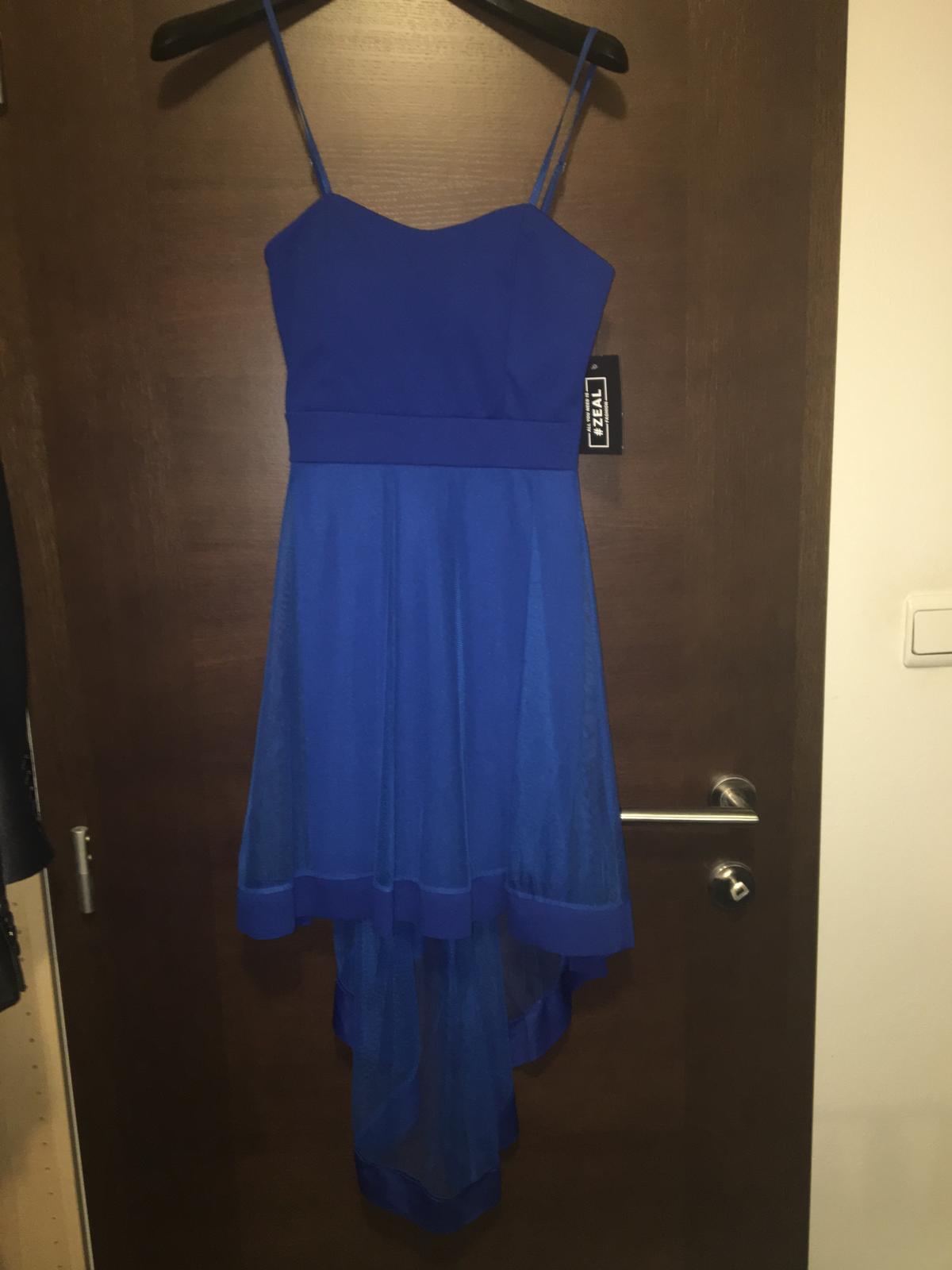 Modre spoločenské šaty  660df88ee16