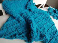 Puffy cerulean blue,