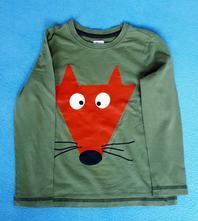 Tričko líštička pre 5 - 6 rokov, f&f,116