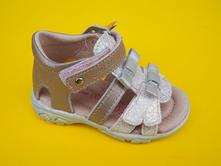 36fa40e050756 Detské kožené sandálky d.d.step ac290 - 7030 cream, d.d.step,21 / 22