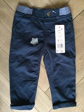 Podšité bavlnené nohavice, nové s vysačkou, f&f,74