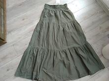 Olivová maxi sukňa, kik,m