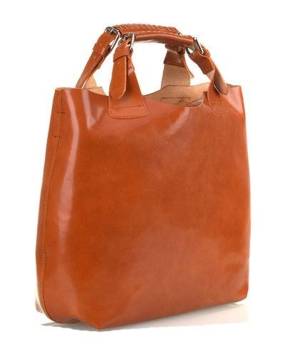 f9016b390c Luxusná talianska kožená kabelka shopper bag camel