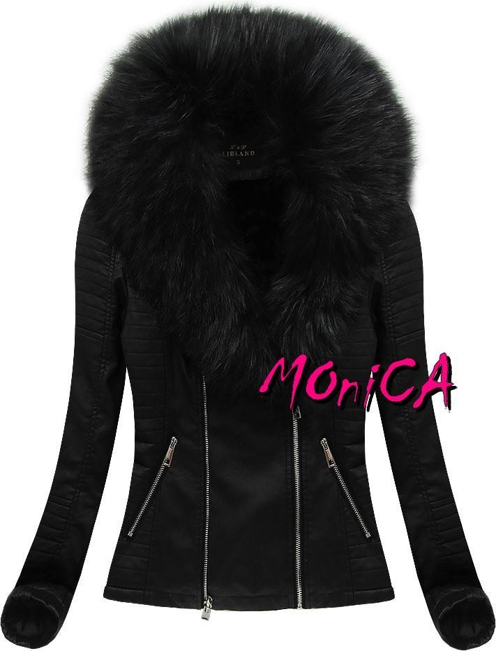 Zateplená koženková bunda s kožušinou 5c79d03bce9