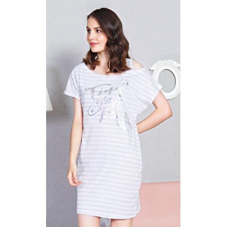 c155d0d4995b Dámske bavlnené domáce šaty s krátkym rukávom