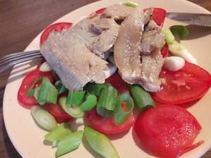 Ľahká večere-zelenina zo záhrady s rybou
