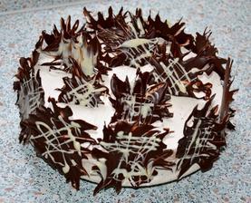 skoro hotovaa........ este cakame kym stuhnu listky citronovej melissy potrete milka cokoladou