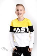 Chlapčenské tričko s dlhým rukávom mm 381 fast yel, 98 - 152