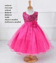 Dievčenské spoločenské šaty (2-9r.) magic, 98 - 158