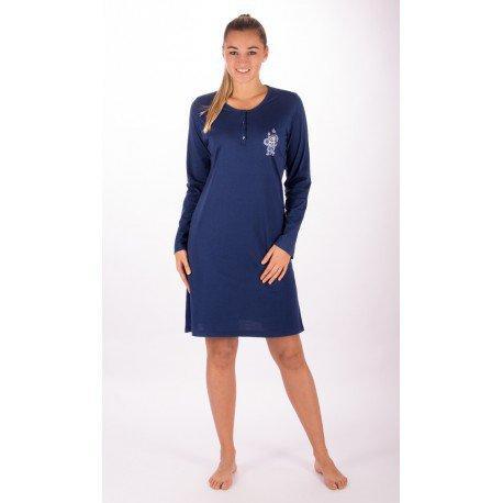 e543db9a4ed6 Dámska bavlnená nočná košeľa s dlhým rukávom julie