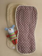 Merino wool bugaboo seat liner hand made,