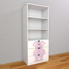 Detská knižnica 180cm - sloník,