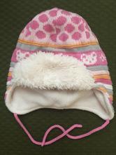 Zimná pletená čiapka s kožušinkou veľ. 74, baby club,74