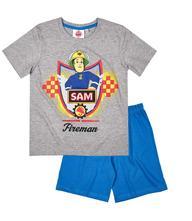 Chlapčenské pyžamo letné požiarnik sam šedé, disney,98 / 104 / 110 / 116