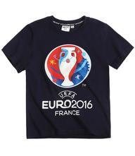 Uefa euro 2016 tričko s krátkym rukávom tm.modrá, 104 / 116 / 128 / 140
