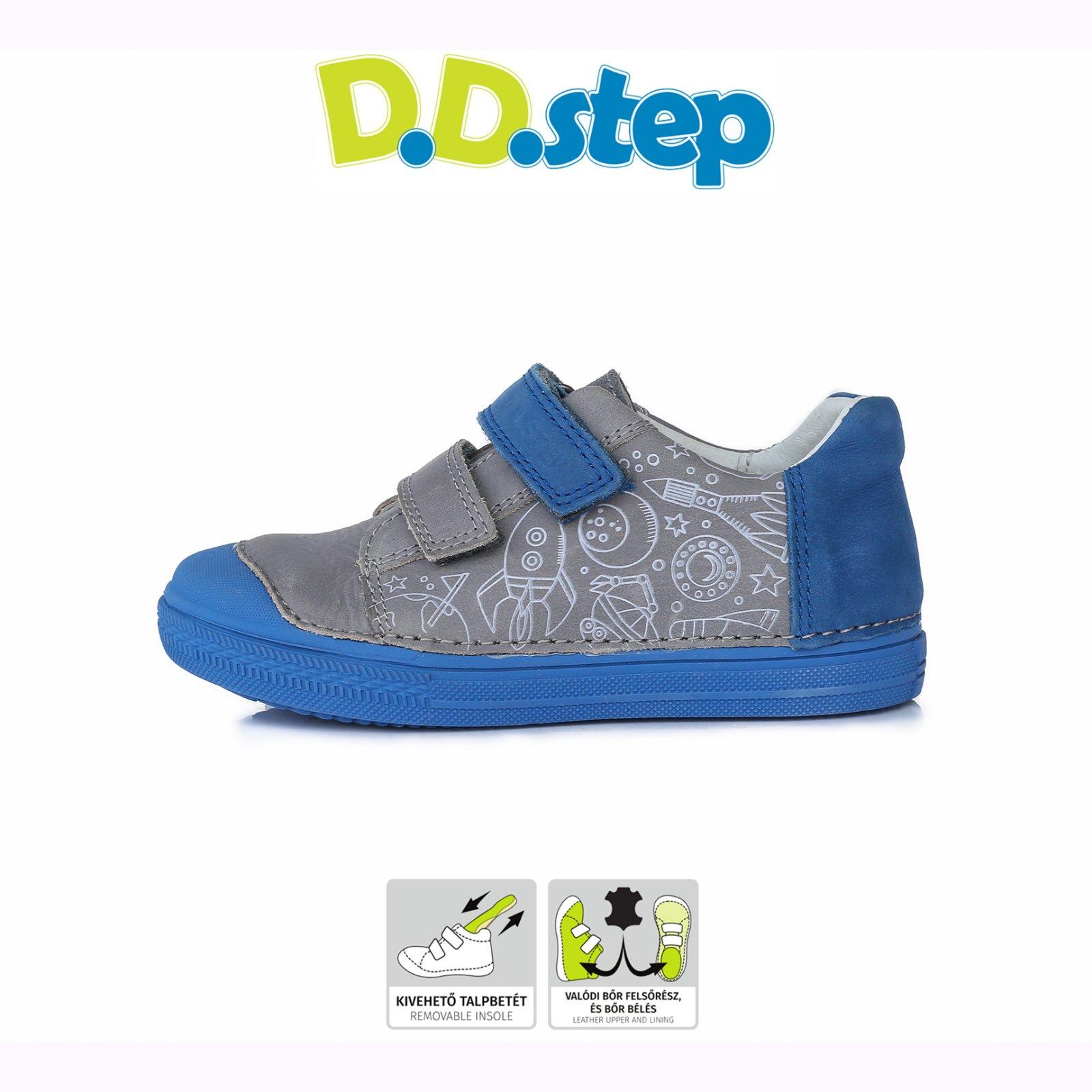 Dd step kožené chlapčenské tenisky grey df5ddd49417