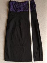 Čierno-fialové šaty, fishbone,s