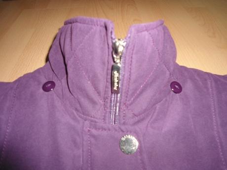 262e2b652ac9 Klasicka damska fialova zimna bunda